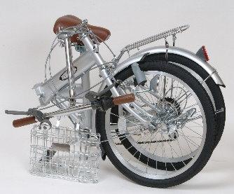 ノーパンク折りたたみ自転車PJ20_折りたたみ時