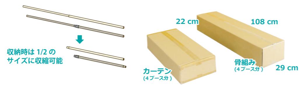 紙管パーテション8-1