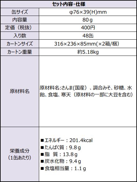 5年保存缶詰-さんま味噌煮-80g缶2