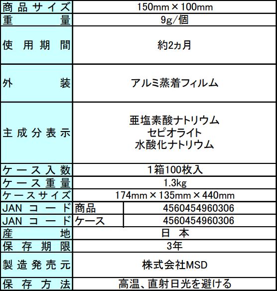 キープバリアプラス商品規格書