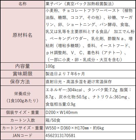 7年保存ぱん革命・チョコレート2